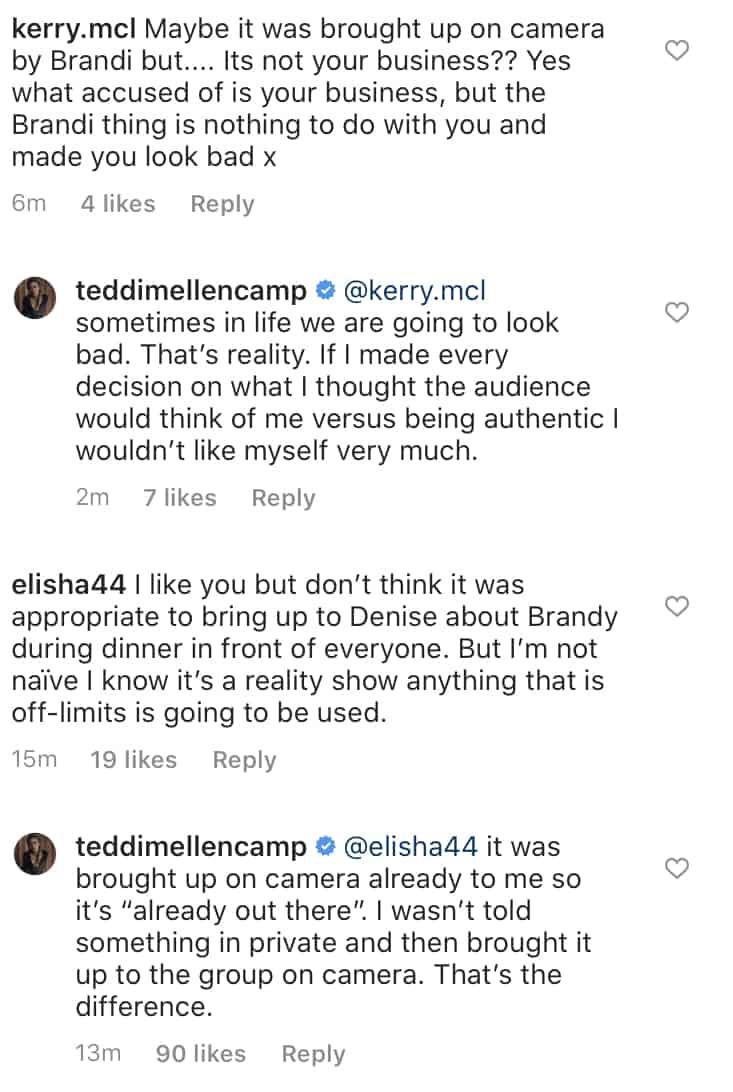 RHOBH Teddi Mellencamp Talks Being Real After Mentioning Denise Richards Affair Rumors