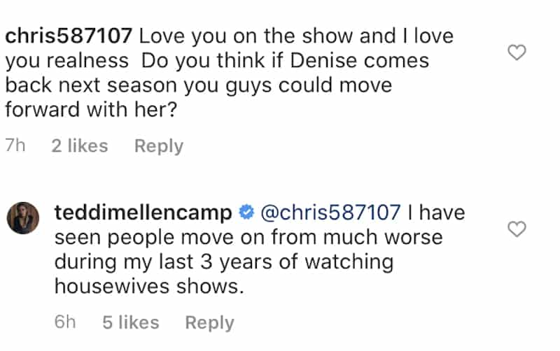 Teddi Mellencamp Talks Making Amends With Densie Richards on RHOBH Season 11