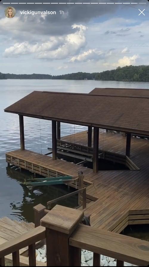 RHOC Vicki Gunvalson Lake House Boat House