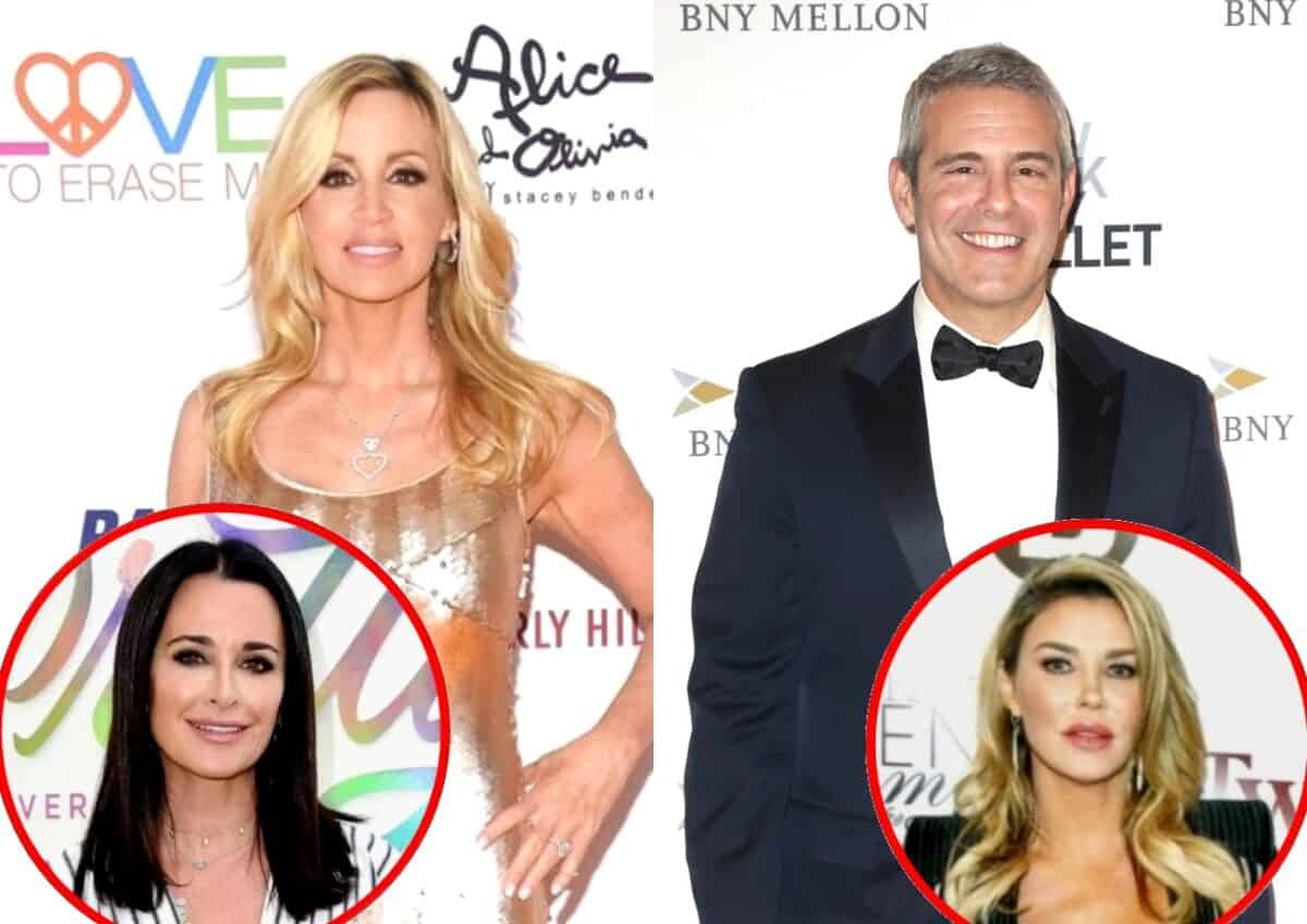 """RHOBH's Camille Grammer Shades Andy Cohen for Having """"Favorites"""" and Suggests Kyle is One, Plus She Slams Brandi for """"Trash"""" Interview on WWHL and Reacts to Denise Quitting"""