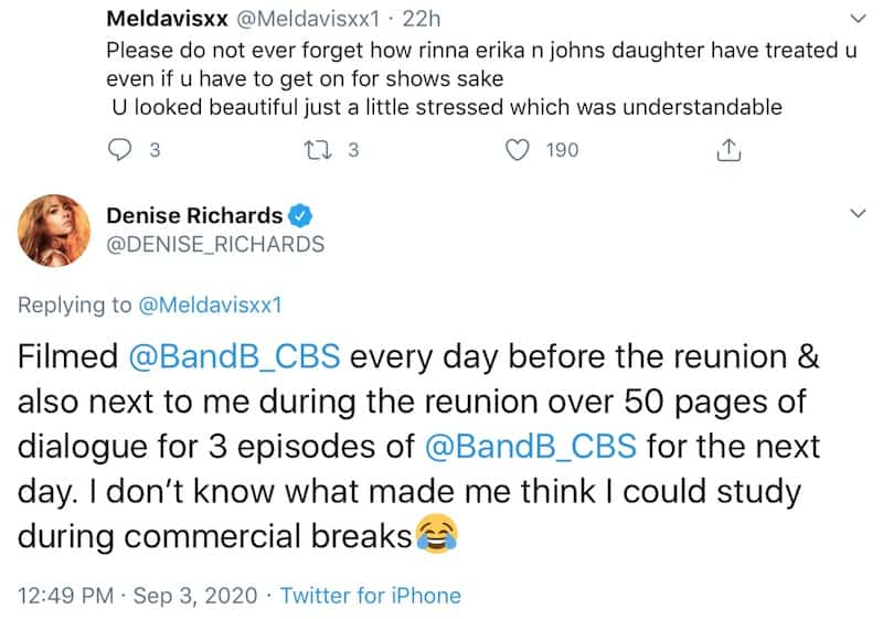 Denise Richards Explains Tired Appearance at RHOBH Reunion