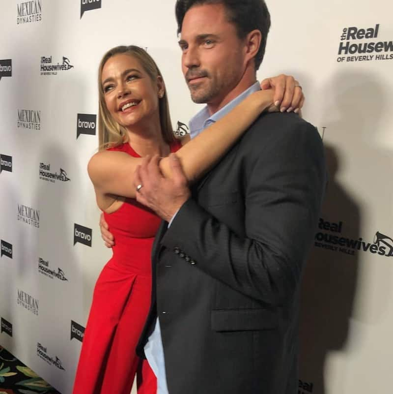 Denise Richards and Aaron Phypers Attend RHOBH Premiere