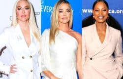 """Erika Jayne Reacts to Denise Leaving the RHOBH With Shady """"Bye"""" GIF on Twitter as Garcelle Beauvais Shares a Cryptic Post on Instagram That Has Fans Convinced She's Also Quitting Show"""