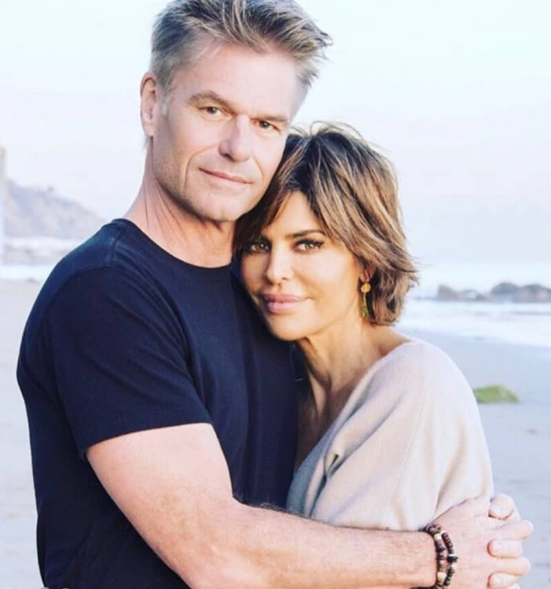 RHOBH Harry Hamlin Hugs Lisa Rinna on the Beach