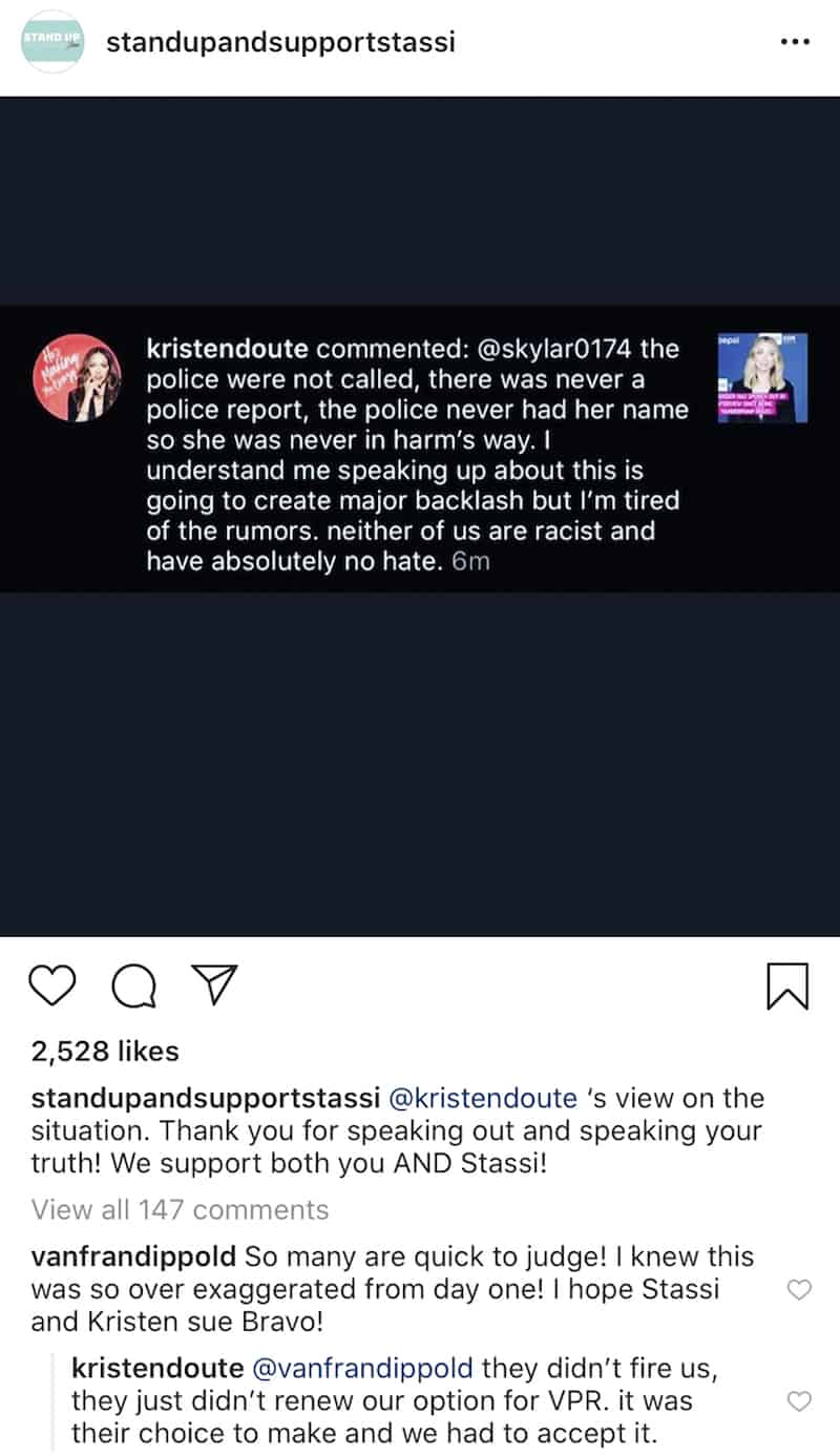 Kristen Doute Denies Turning Faith Stowers in to Police and Says She Wasn't Fired From Vanderpump Rules