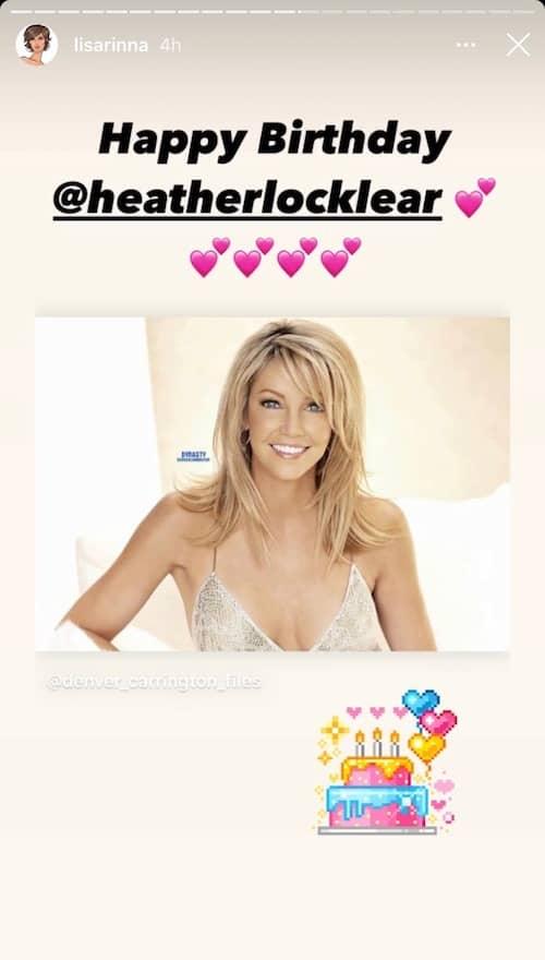 RHOBH Lisa Rinna Wishes Heather Locklear a Happy Birthday