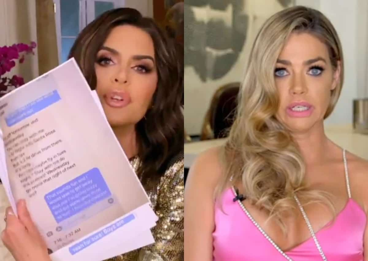 RHOBH REUNION RECAP: Rinna Prints Out Denise's Texts to Brandi; Denise and Rinna End Their 20 Year Friendship