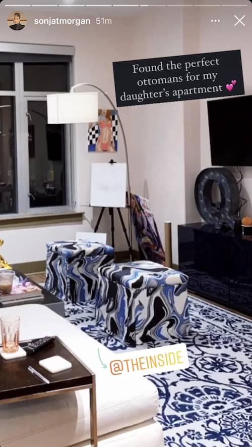 RHONY Sonja Morgan Shows Off Daughter's Living Room at Her Apartment