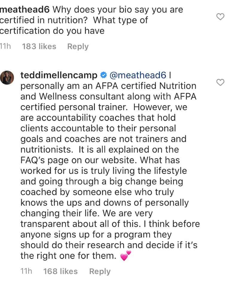 RHOBH Teddi Mellencamp Explains Certifications Amid All In Diet Backlash