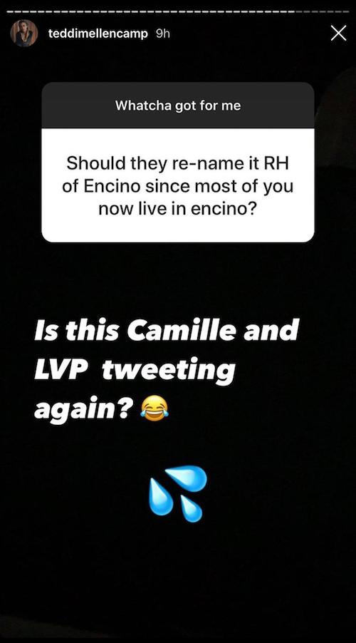 RHOBH Teddi Mellencamp Responds to Encino Joke With LVP Shade