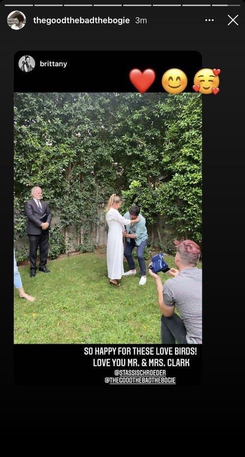 Vanderpump Rules Brittany Cartwright Shares Stassi Schroeder and Beau Clark Wedding Photo