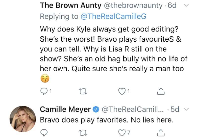 RHOBH Camille Grammer Claims Bravo Plays Favorites