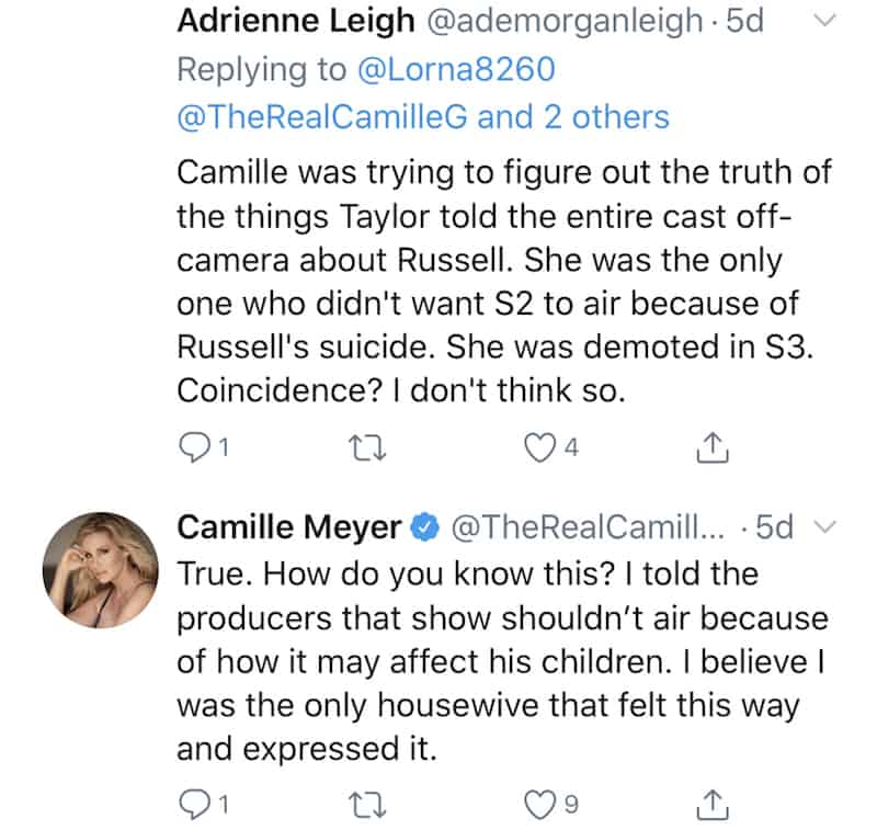Camille Grammer Claims the RHOBH Cast Didn't Care to Protect Russell Armstrong's Kids