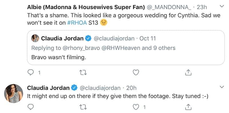Claudia Jordan Hints Cynthia Bailey Wedding Will Be Seen on RHOA