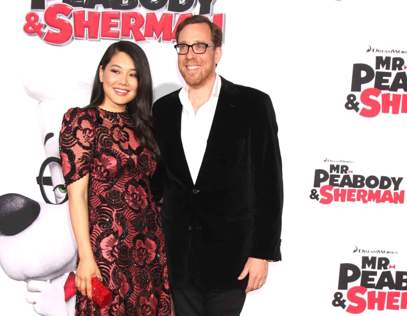 Crystal Kung and husband Rob Minkoff on red carpet