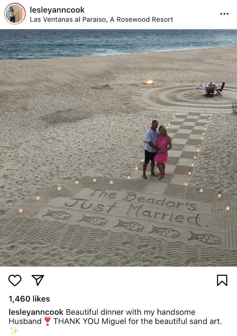 RHOC David Beador and Lesley Cook Honeymoon in Cabo