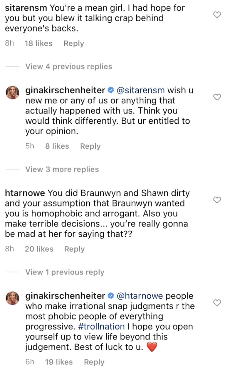RHOC Gina Kirschenheiter Responds to Claims of Being Mean and Homophobic