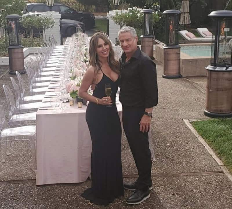 RHOC Kelly Dodd and Rick Leventhal are Seen at Their Wedding Reception