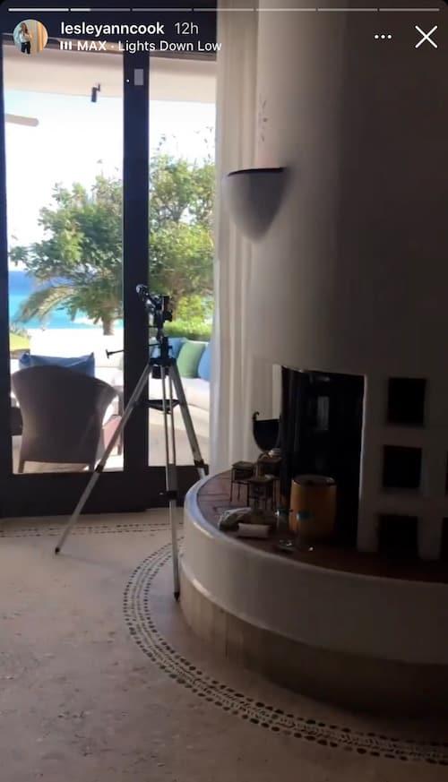 RHOC Lesley Cook Has a Fireplace in Her Honeymoon Suite With David Beador