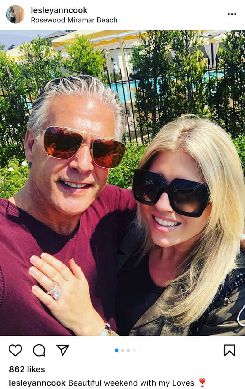 Lesley Cook Shows Off Her Wedding Band Before Marrying RHOC David Beador