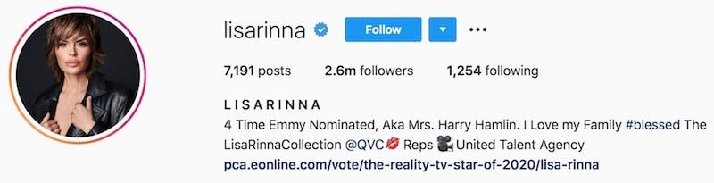 Lisa Rinna Removes RHOBH From Instagram Bio