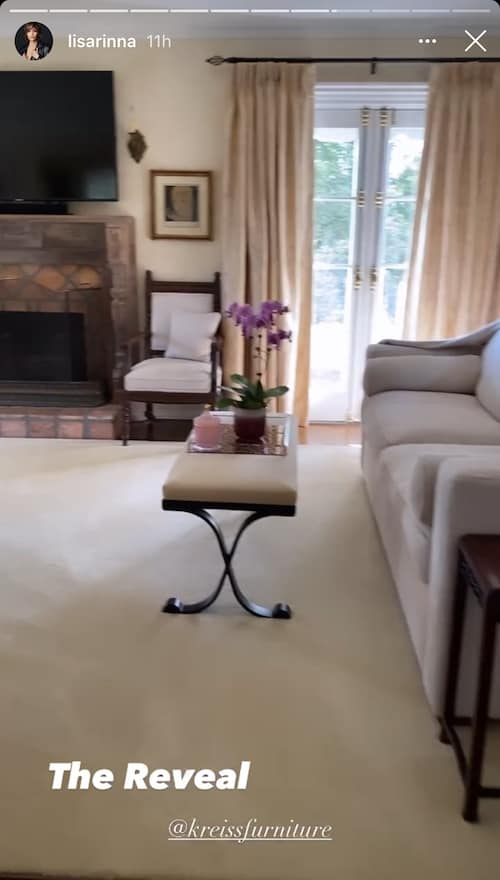 RHOBH Lisa Rinna Shows Off Fireplace in Master Suite