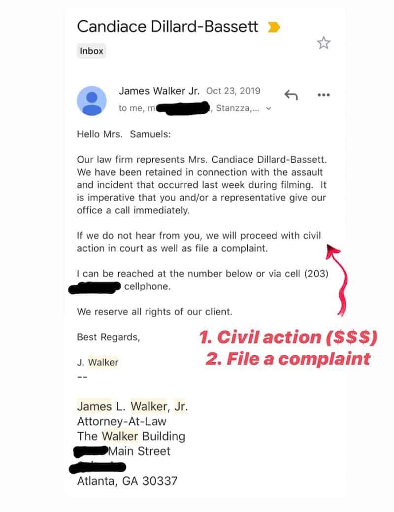 RHOP Monique Samuels Leakes Legal Letter From Candiace Dillard Bassett's Attorney