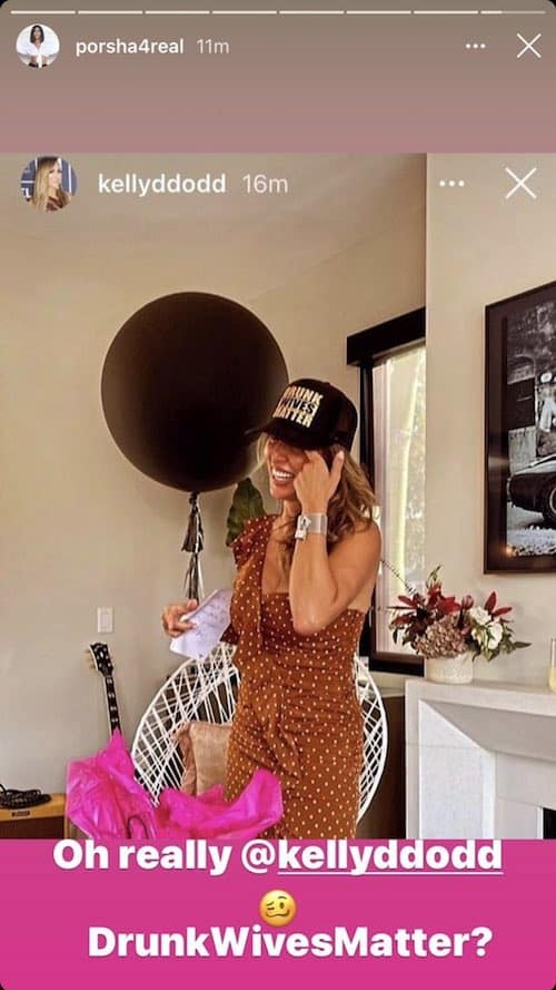 RHOA Porsha Williams Slams Kelly Dodd for Drunk Lives Matter Hat