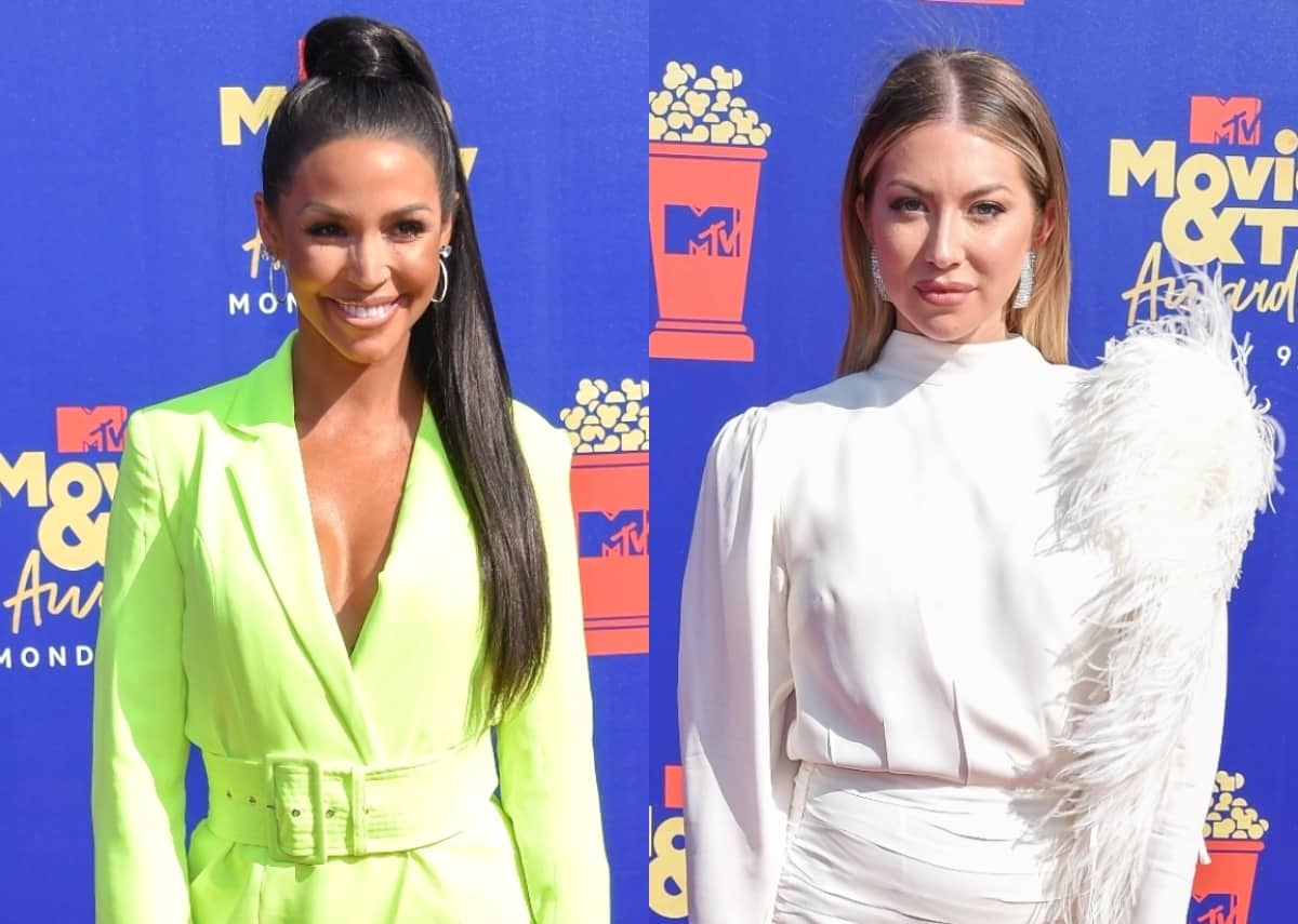 """Scheana Shay Says Stassi Schroeder Accused Her of Leaking Private Text Messages and Slams the """"Bullsh*t"""" End of Their Friendship, Plus She Admits Vanderpump Rules is """"Lacking in Diversity"""""""