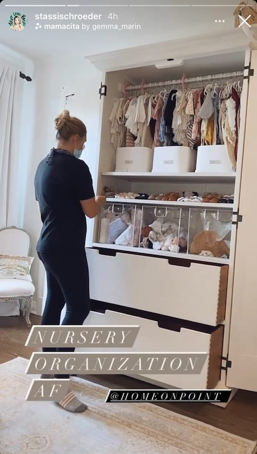 Vanderpump Rules Stassi Schroeder Has Daughter's Nursery Closet Organized