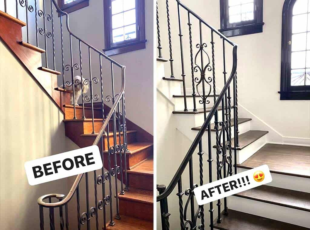 Stassi Schroeder Home Stairs Before and After