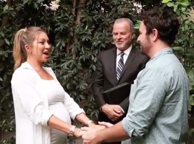 Vanderpump Rules Stassi Schroeder and Beau Clark Hold Hands at Wedding