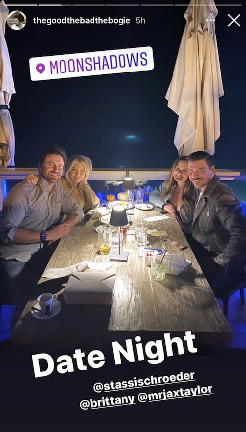Vanderpump Rules Stassi Schroeder and Beau Clark meet with Jax Taylor and Brittany Cartwright for a date night