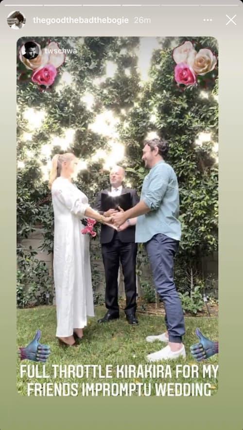 Vanderpump Rules Tom Schwartz Shares Stassi Schroeder and Beau Clark Wedding Photo