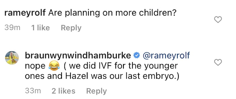 RHOC Braunwyn Windham-Burke is Not Planning for More Kids