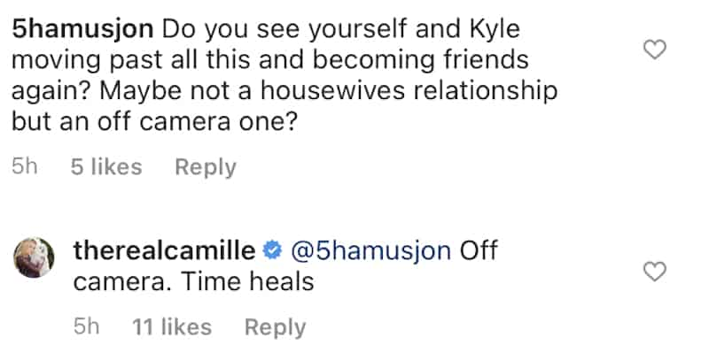 RHOBH Camille Grammer Discusses a Reconciliation With Kyle Richards