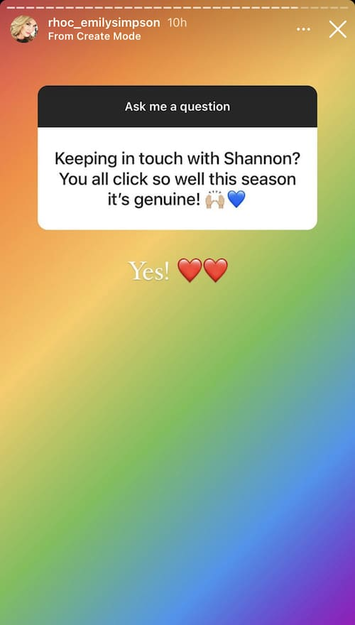 RHOC Emily Simpson Shares Update on Shannon Beador Friendship