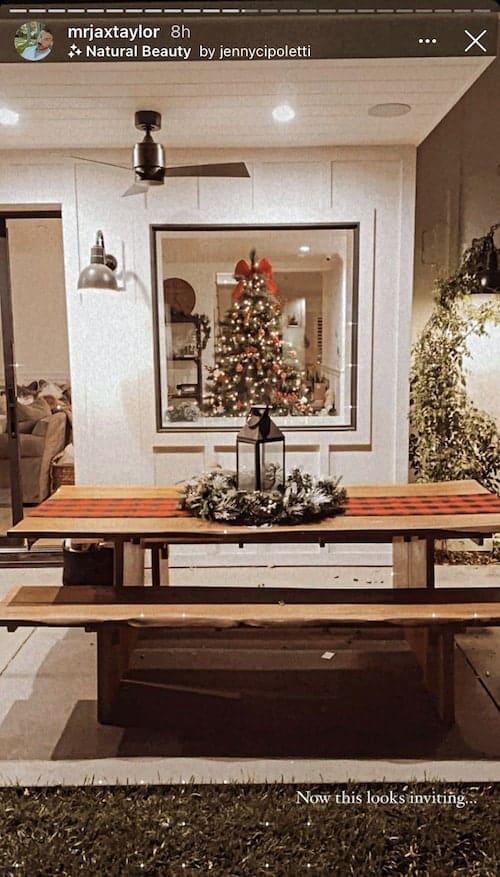 Vanderpump Rules Jax Taylor Shares Photo of Backyard Christmas Tree