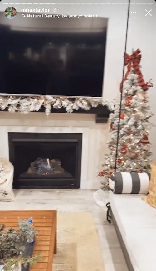 Vanderpump Rules Jax Taylor Shows Off Christmas Tree and Fireplace