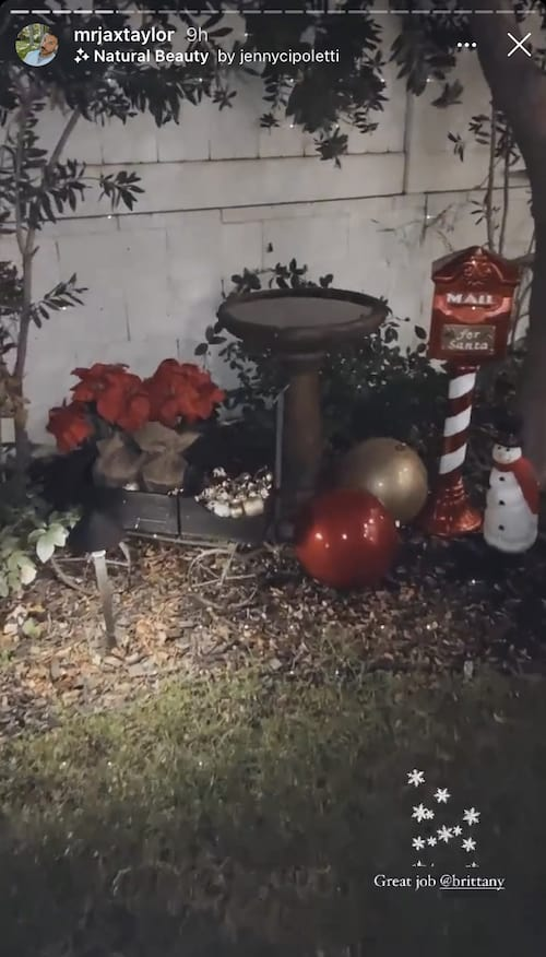Vanderpump Rules Jax Taylor Shows off Bird Bath With Christmas Decorations