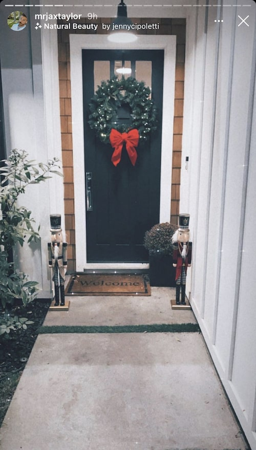 Vanderpump Rules Jax Taylor and Brittany Cartwright's Front Door With a Christmas Wreath