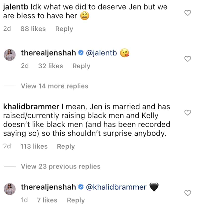 RHOSLC Jen Shah Reacts to Kelly Dodd's Statements About Black Men