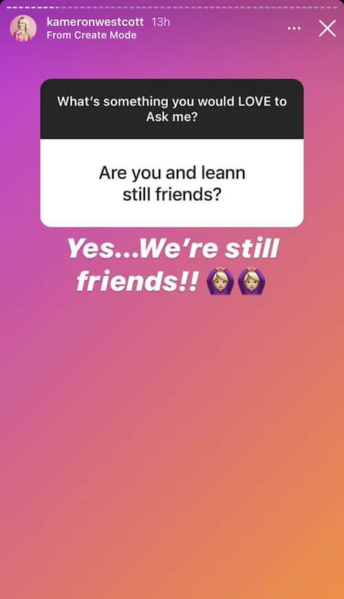 RHOD Kameron Westcott and LeeAnne Locken Are Still Friends