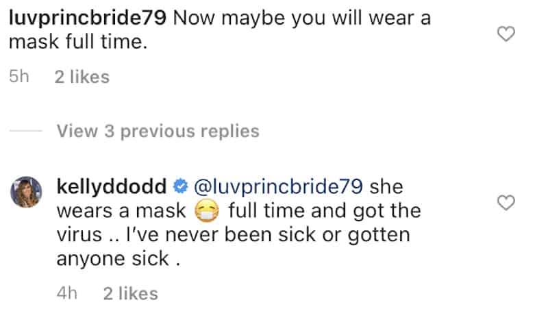 RHOC Kelly Dodd Denies Spreading COVID-19 to Her Mom