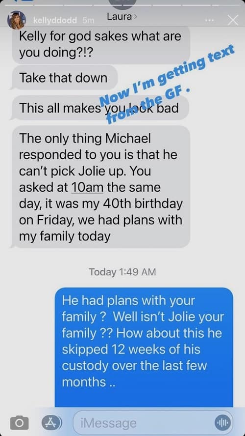 RHOC Kelly Dodd Leakes Text Message From Michael Dodd's Girlfriend Amid Custody Drama