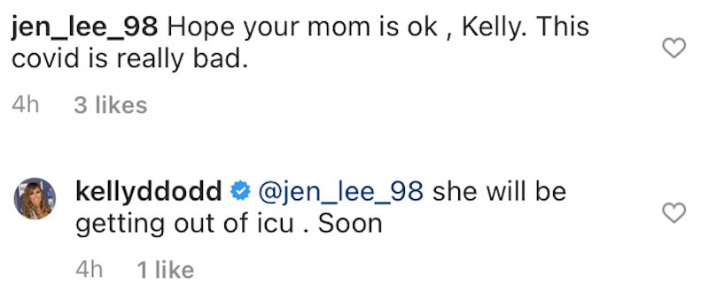 RHOC Kelly Dodd Says Mom Will Be Out of ICU Soon