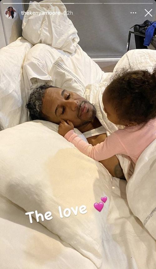 RHOA Kenya Moore Shares Photo of Marc and Daughter Brooklyn