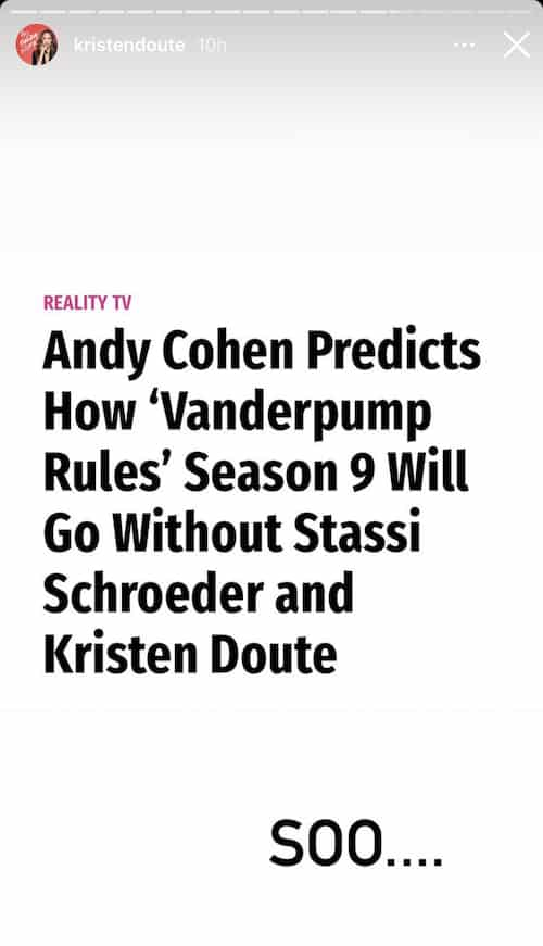 Kristen Doute Reacts to Andy Cohen's Vanderpump Rules Season 9 Predictions