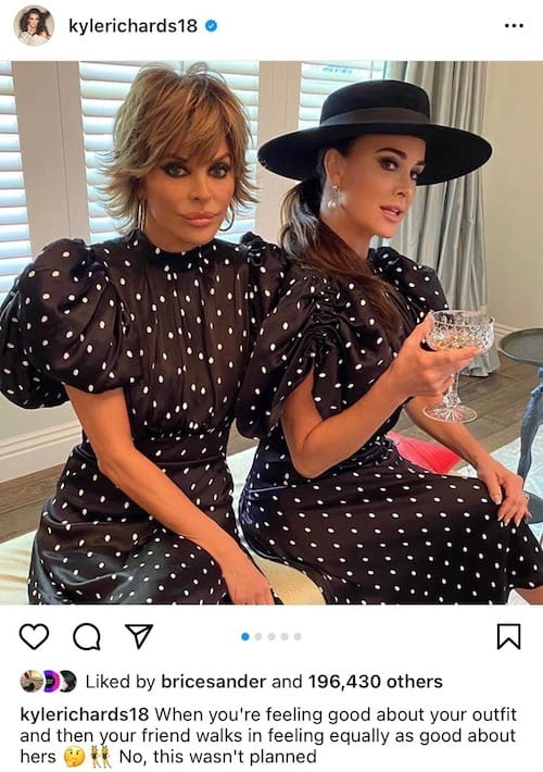 Kyle Richards and Lisa Rinna Wear Matching Outfits Amid RHOBH Season 11 Filming
