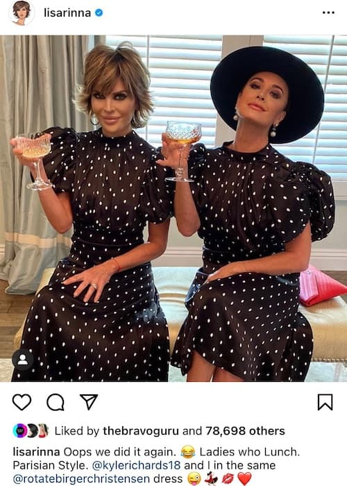 RHOBH Lisa Rinna and Kyle Richards Accidentally Dress Like Twins